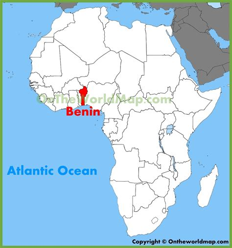benin on the map benin location on the africa map
