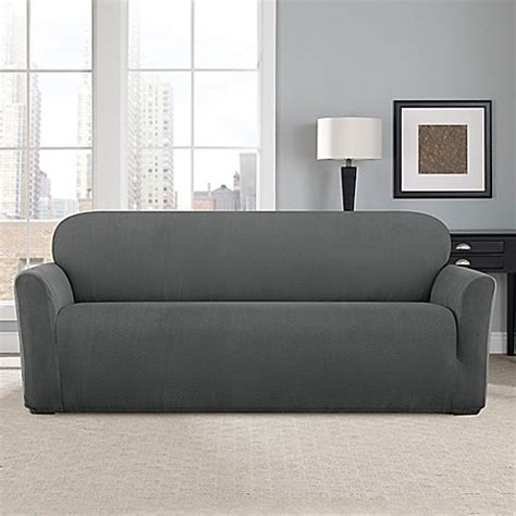 Sure Fit 174 Modern Chevron Sofa Slipcover Bed Bath Beyond Modern Sofa Slipcover