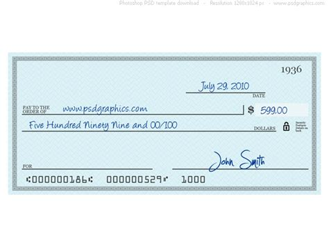 Blank Cheques Templates Large Autos Post Oversized Check Template Free