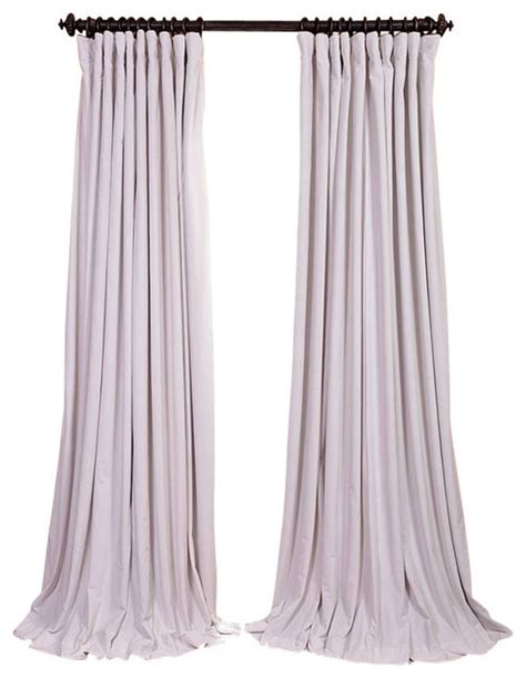 off white velvet curtains signature off white doublewide blackout velvet curtain