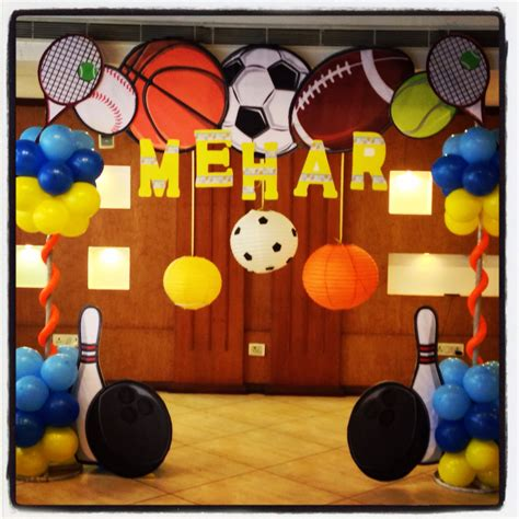 sports themed decorations sports theme hosting happinez