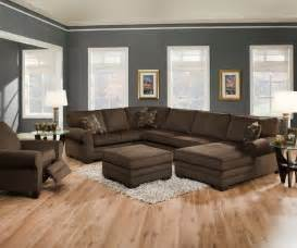 stunning ushaped brown sectional sofa s3net sectional