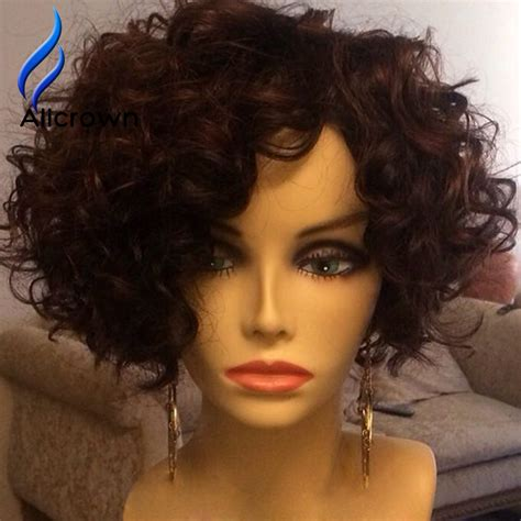 lace wig shorter hairstyles short lace front wigs human hair alicrown brazilian curly