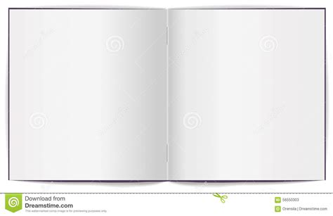 eps format how to open open brochure with white clean sheets stock vector image