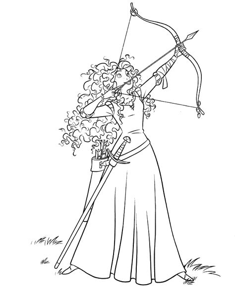 Disney Brave Coloring Pages disney coloring pages