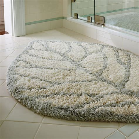 frontgate bathroom rugs destin leaf bath rug traditional bath mats by frontgate