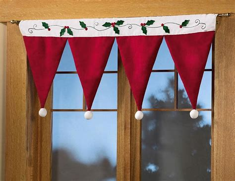 Santa Hat Valance santa hat window valance decoration
