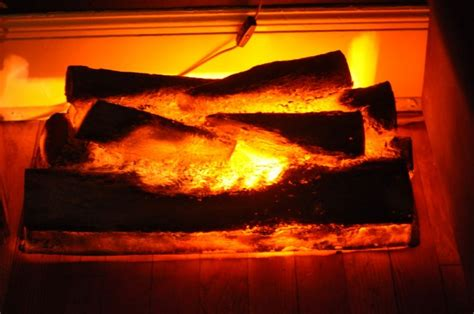 inspiring fireplace logs 9 battery operated