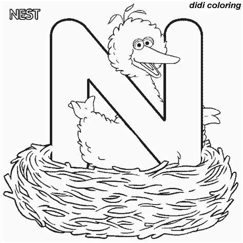 letter n coloring pages preschool printable preschool alphabets uppercase letter n nest