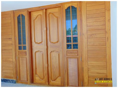 house front door design kerala style front door designs wooden door style in kerala door designs photosm images