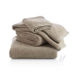 ribbed bath towels ribbed sand bath towels crate and barrel