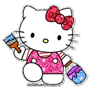 hewan lucu 2016 animasi bergerak hello kitty untuk glitter hello kitty