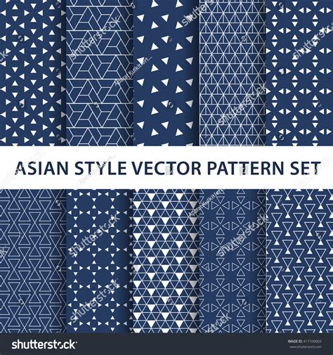 texture pattern swatches 10 different asian patterns swatches vector stock vector