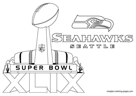 seattle seahawk logo coloring pages