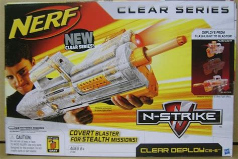 Nerf Langka Deploy Cs 6 Clear sg nerf nerf n strike clear deploy cs 6 sneak peek