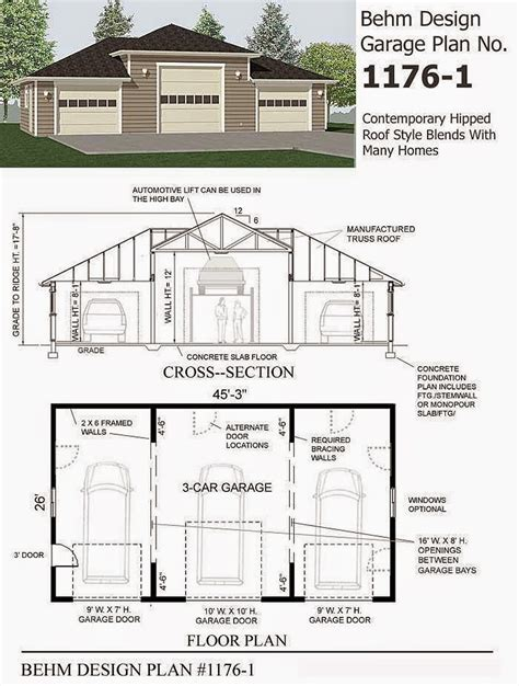 garage blueprint garage plans blog behm design garage plan exles