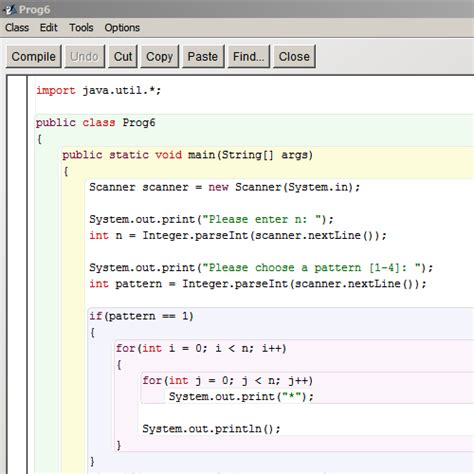 pattern java code it2051229 java star patterns