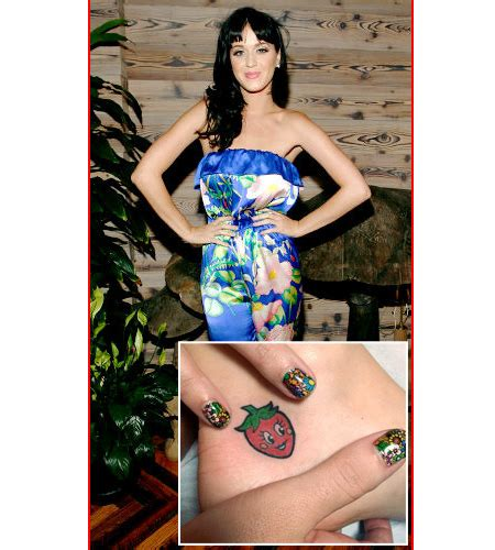 strawberry tattoo katy perry katy perry strawberry tattoo design sheplanet