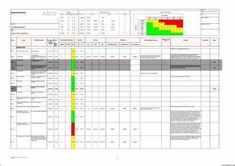 project risk assessment template xls template update
