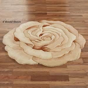 rosetta flower shaped rugs