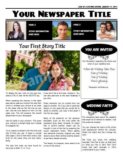 Wedding Announcement For Newspaper Template by 1000 Images About Wedding Engagement Newspaper