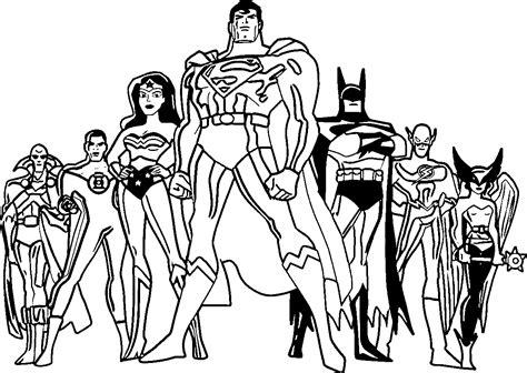 justice league coloring pages wecoloringpagecom