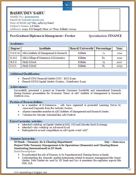 sample mba resume financial analyst resume examples entry level