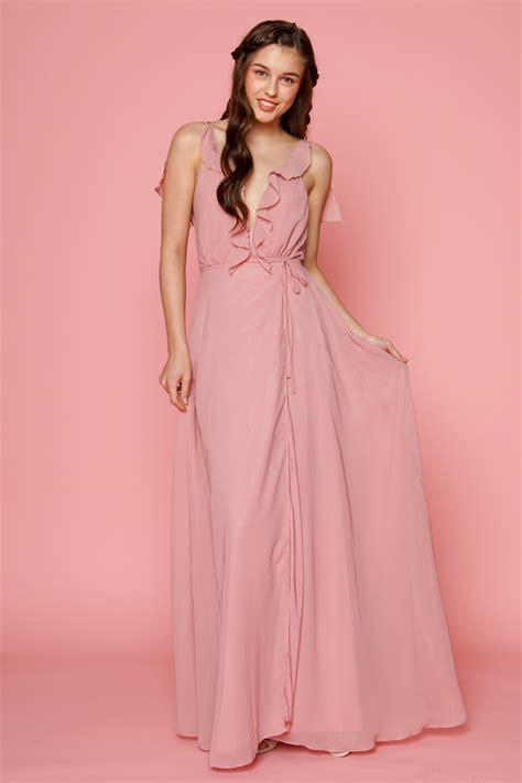 zoo fashion online florence ruffle chiffon maxi dress