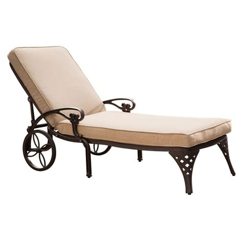 lowes chaise lounge shop home styles biscayne bronze aluminum patio chaise