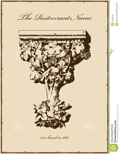 Kitchen Design Plans Template by Vintage Menu Restaurant Vertical Book Stock Photography
