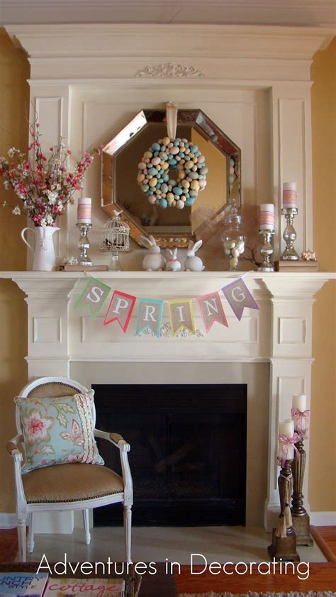 Easter Mantel Decorations by Blogs Easter Mantels