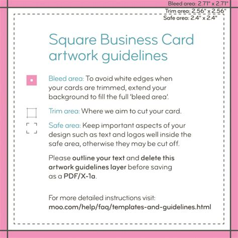 moo square business cards template moo product templates moo support