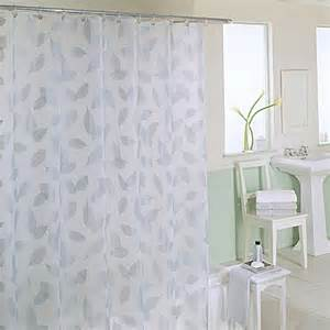 Bed Bath Shower Curtains Buy Modern Leaf 70 Inch X 72 Inch Silver Shower Curtain