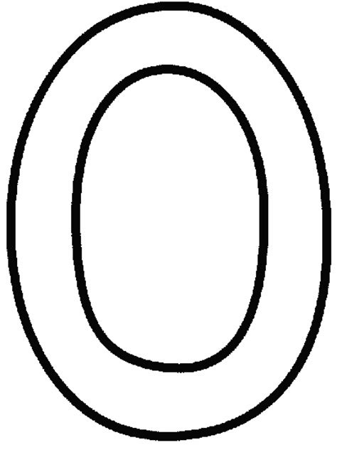 Number 0 Coloring Pages Printable Coloring Pages Number 0 Coloring Pages