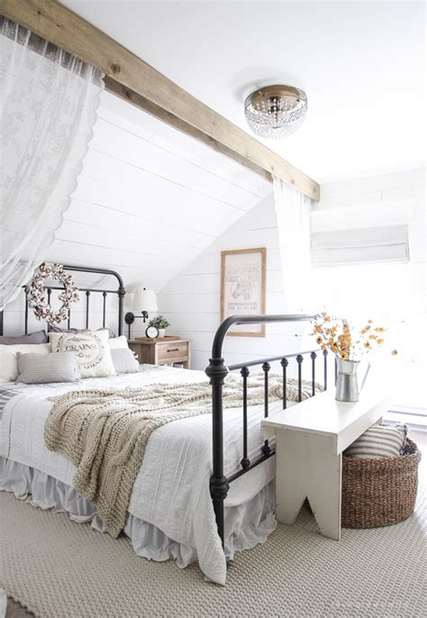 farmhouse bedroom fall bedroom fall into home tour grows
