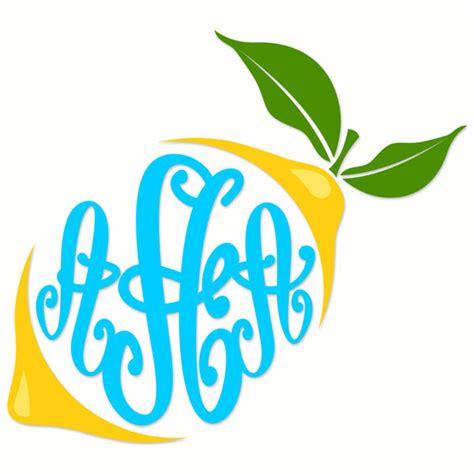 Lemon Letter Lemon Monogram Cuttable Frames