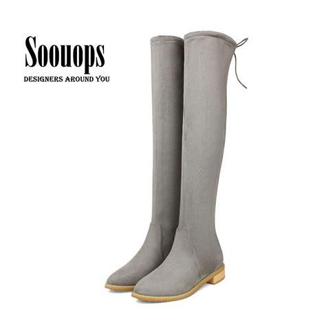 get cheap flat leather thigh high boots aliexpress