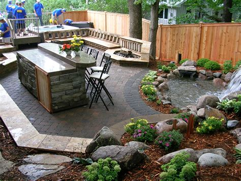 landscape design ideas patio driveway installation