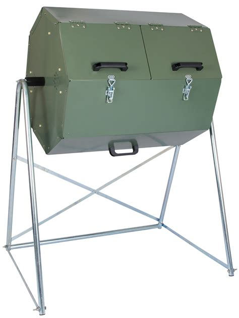 Compost Bin Dw 174 S Dual Batch Compost Tumbler Fast Compost Turns With Ease