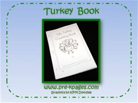 printable turkey counting book free printable thanksgiving activities for preschoolers