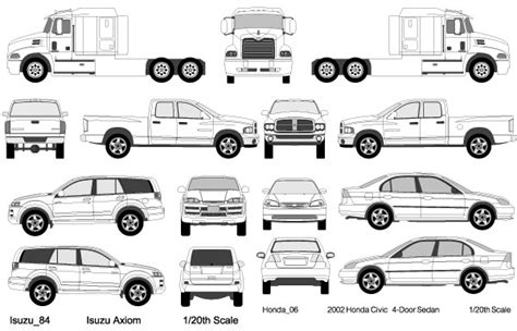 vehicle vector templates cars trucks vectors free vector