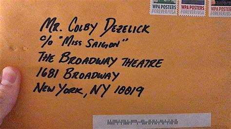 fan mail address broadway fan mail