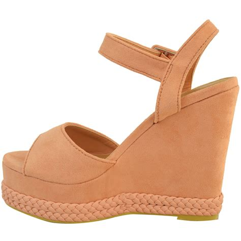 womens studded wedge sandal rock espadrille