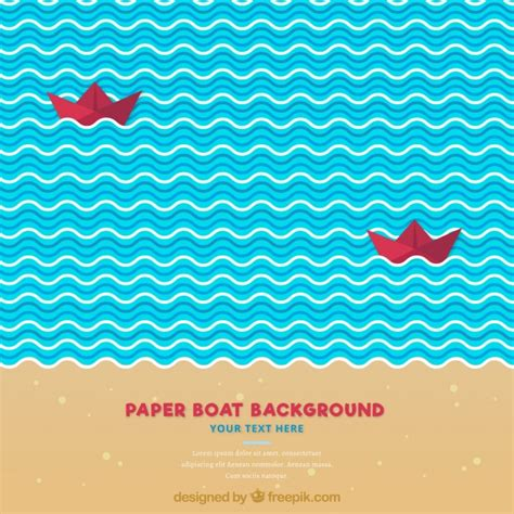 decorative paper boat decorative background with red paper boats vector free