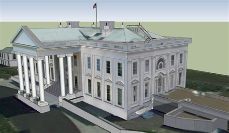 white house model the white house 3d model skp cgtrader com