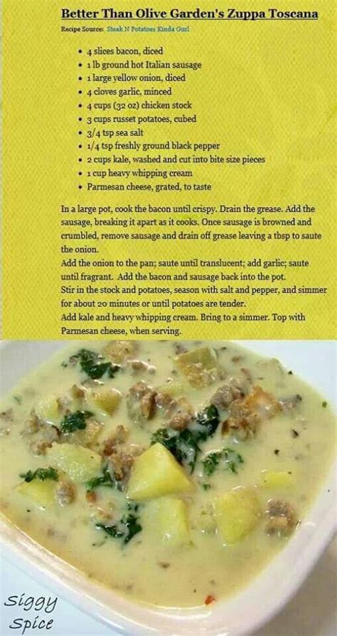 olive garden zuppa toscana nutrition pin by marjorie fitzgerald eldredge on favorite recipes
