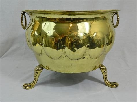 Jardiniere Planter by 19th Century Polished Brass Large Jardiniere Or Planter On