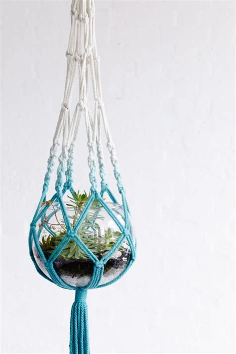 Free Patterns For Macrame Plant Hangers - 1000 idee 235 n crochet plant hanger op