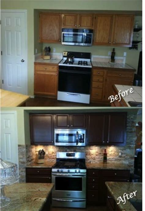 """Kitchen Updating: Painted Sherwin Williams """"Fiery Brown"""
