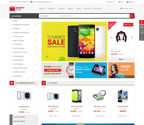 sj shoppystore download responsive joomla template